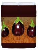 My Three Eggplant Fruits Duvet Cover