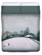 My Wintry Homey Snowy Planet Duvet Cover