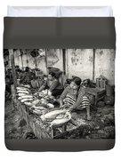 Myanmar Market Duvet Cover
