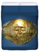 Mycenaean Gold Mask Duvet Cover