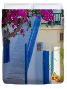 Mykonos Staircase Duvet Cover