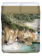 Mylopotamos Beach, Pelion, Greece Duvet Cover