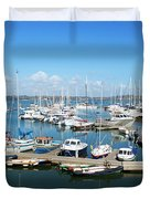 Mylor Marina Cornwall Duvet Cover