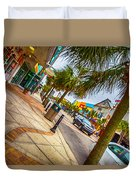 Myrtle Beach Shopping Duvet Cover