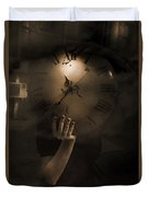 Mysteries Of Time Duvet Cover