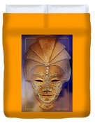 Mysterious Ancient  Asian Mask Duvet Cover