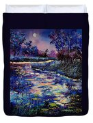 Mysterious Blue Pond Duvet Cover