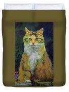 Mysterious Cat Duvet Cover