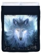 Mysterious Wolf Hand Painted Duvet Cover