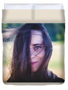 Mysterious Look Duvet Cover