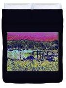 Mystery Bay At Sunset Duvet Cover