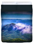 Mystery Of Looking Glass Rock Duvet Cover