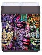 Mystic City Faces - Version B  Duvet Cover