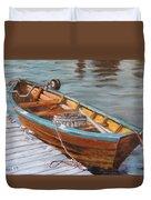 Mystic Fishing Boat Duvet Cover