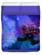 Mystic Poppy Blue Purple  Duvet Cover