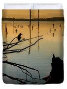Mystical Sunrise On The Lake Duvet Cover
