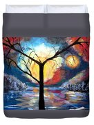 Mystical Twilight Forest Duvet Cover