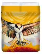 Mythical Eagle Perching Oil Painting Duvet Cover