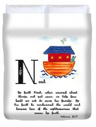 N Is For Noah Duvet Cover