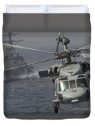N Mh-60s Knight Hawk Delivers Supplies Duvet Cover