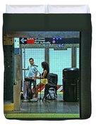 N Y C Subway Scene # 13 Duvet Cover