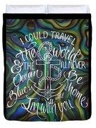 N/z Abalone /lettering Duvet Cover