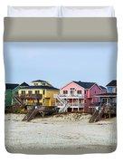 Nags Head Beach Houses Duvet Cover