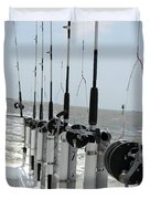 Nags Head Nc Fishing Poles Duvet Cover