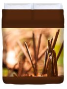 Nails On Dragon Duvet Cover