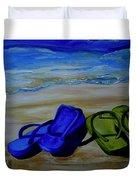 Naked Feet On The Beach Duvet Cover