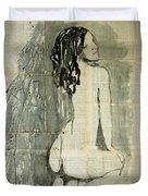 Naked Figure.  Duvet Cover