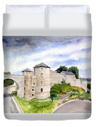 Namur, Citadelle Et Pont Des Hollandais Duvet Cover