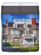 Nantucket Architecture Series 28 Duvet Cover
