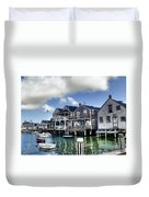 Nantucket Harbor In Summer Duvet Cover
