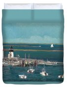 Nantucket Harbor Duvet Cover