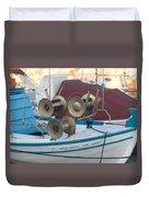 Naoussa Boat Paros Island Greece  Duvet Cover
