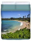 Napili Bay With Visitors Duvet Cover