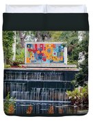 Naples Botanical Waterfall - Refreshing Garden Duvet Cover