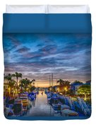 Naples Canal Christmas 6 Duvet Cover