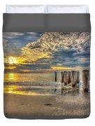 Naples Florida Sunset Duvet Cover