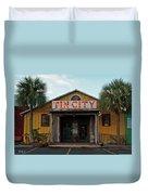 Naples Tin City - Open For Business Duvet Cover