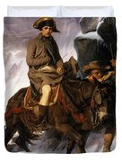 Napoleon Crossing The Alps Duvet Cover