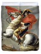 Napoleon Crossing The Alps, Jacques Louis David, From The Original Version Of This Painting  Duvet Cover