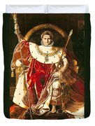 Napoleon I On The Imperial Throne Duvet Cover