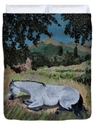 Napping Horse Duvet Cover