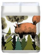 Napping Squirrel Duvet Cover