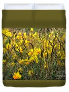 Narcissus And Grasses Duvet Cover