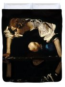 Narcissus Duvet Cover by Caravaggio