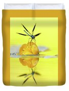 Narcissus - Damselfly Reflected In The River Duvet Cover