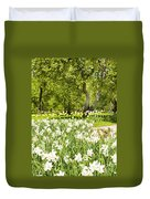 Narcissus In Apple Garden Duvet Cover